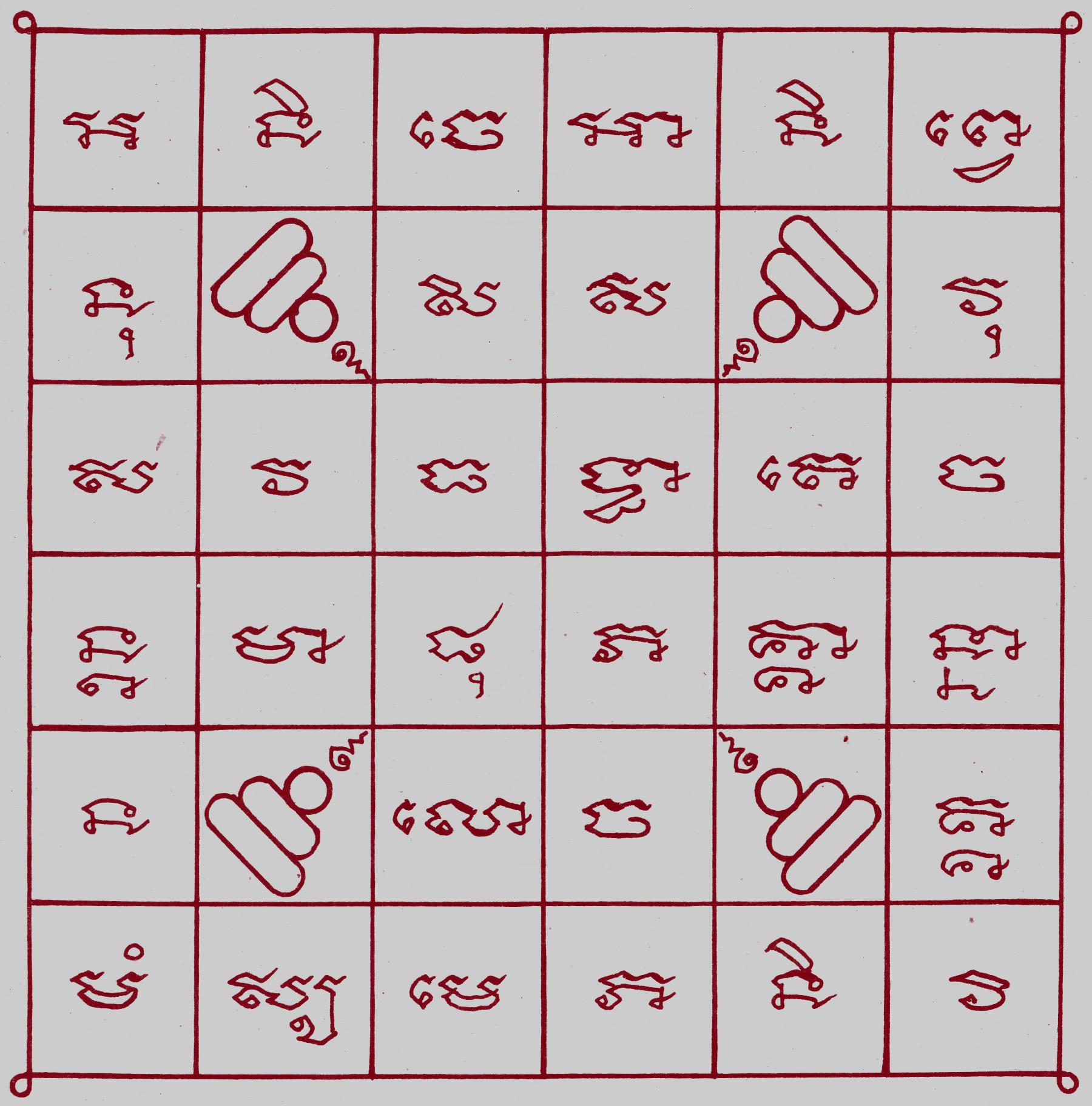 Yantra Vorlagen und Motive | Weitere Yantra Motive ähnlich wie Sak Yant